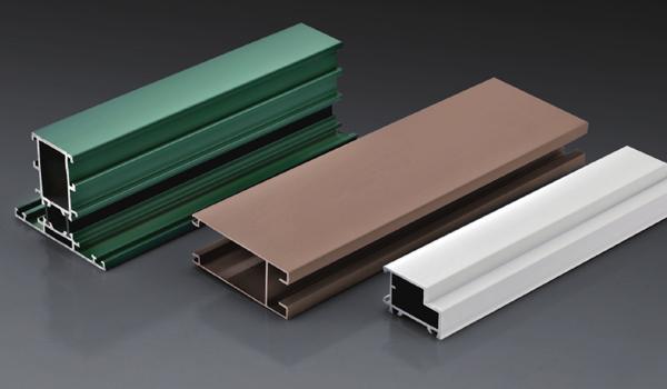 Profilés en aluminium à revêtement en poudre pour veuves et portes